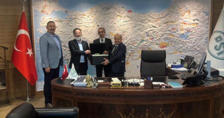 DSİ Genel Müdürü Sn Kaya Yıldız'ı Makamında Ziyaret Ettik